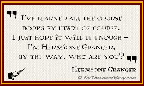 Hermione Granger Quote