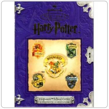 2001 Hogwarts Crests Ornaments