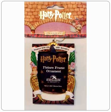 Kurt Adler Harry Potter Chocolate Frog Card Photo Frame Ornament