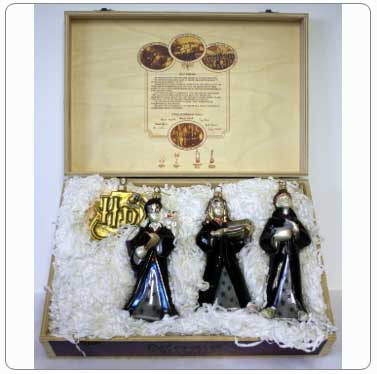 Kurt Adler Harry Potter Polonaise Glass Boxed Set of Ornaments