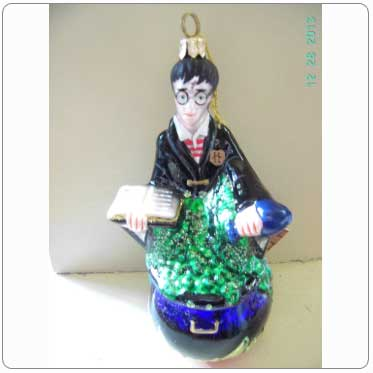 Kurt Adler Polonaise Glass Harry Potter in Potions Class Ornament