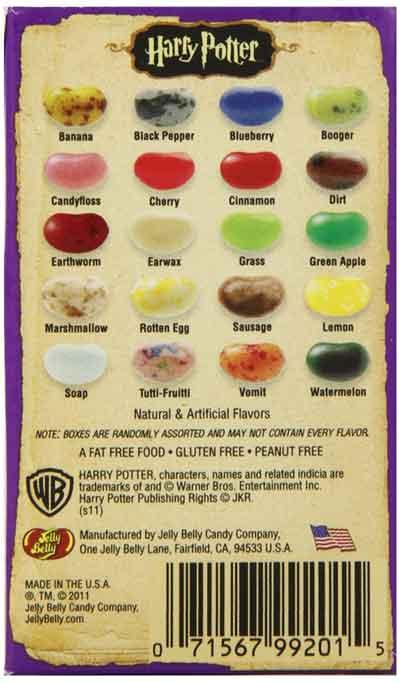 Bertie Bott's Every Flavor Beans Flavors