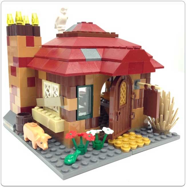 LEGO® Set 4840 – The Burrow Cottage Build