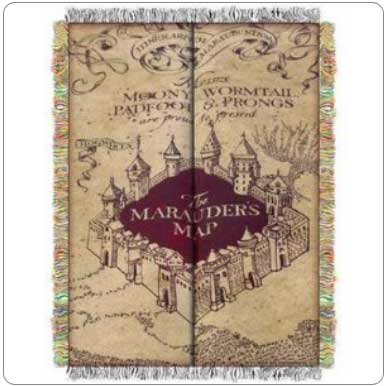 Marauders Map Blanket
