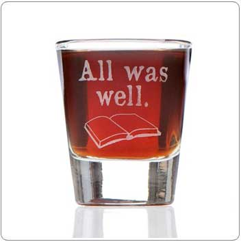 All Was Well Harry Potter Shot Glass