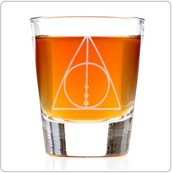 Deathly Hallows Harry Potter Shot Glass