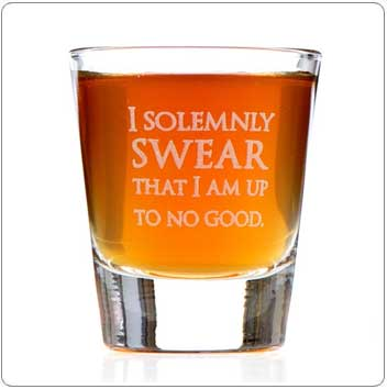 I Solemnly Swear That I Am Up To No Good Harry Potter Shot Glass