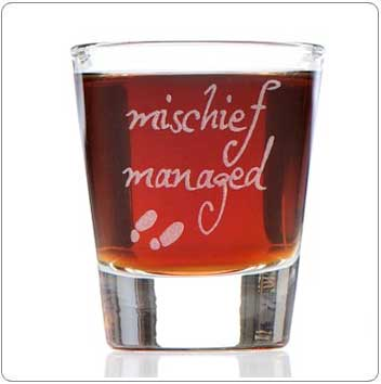 Mischief Managed Harry Potter Shot Glasses