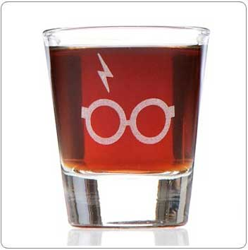 Scar and Glasses Harry Potter Shot Glass