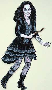 Bellatrix Lestrange Jointed Paper Doll