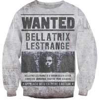 Bellatrix Lestrange Wanted Sweatshirt
