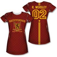 Gryffindor Quidditch Jersey Shirt For Women