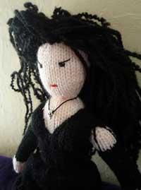 Knitted Bellatrix Lestrange Doll