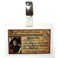 Minerva McGonagall Hogwarts ID Badge