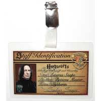 Severus Snape Hogwarts ID