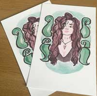 Watercolor Painting of Bellatrix Lestrange