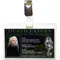 Lucius Malfoy Death Eater ID Badge