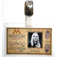 Lucius Malfoy Ministry of Magic ID Badge