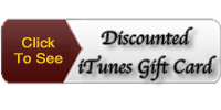 Discounted iTunes Gift Card