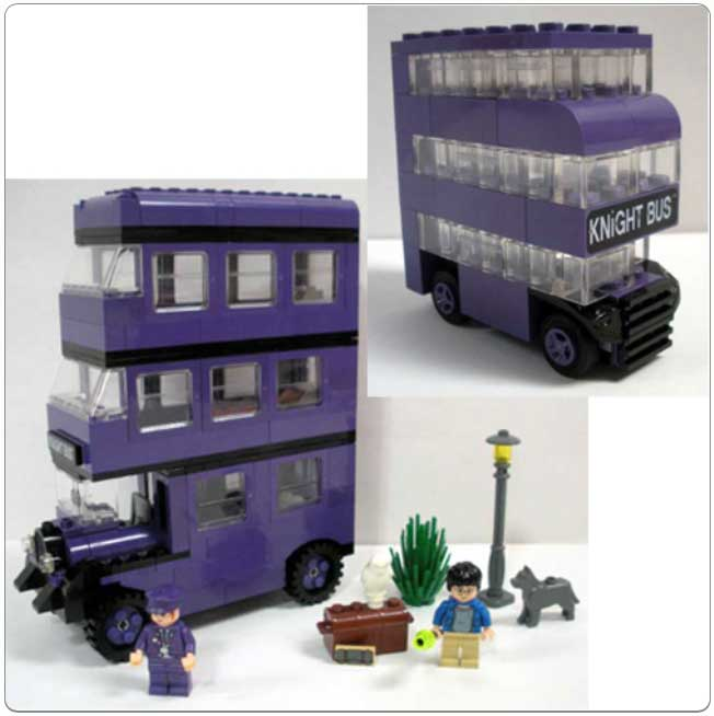 Collection of LEGO sets in the Knight Bus kit