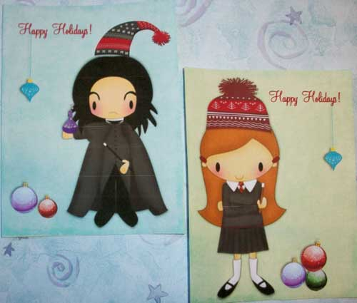 PaintedByRenee Harry Potter Christmas Cards