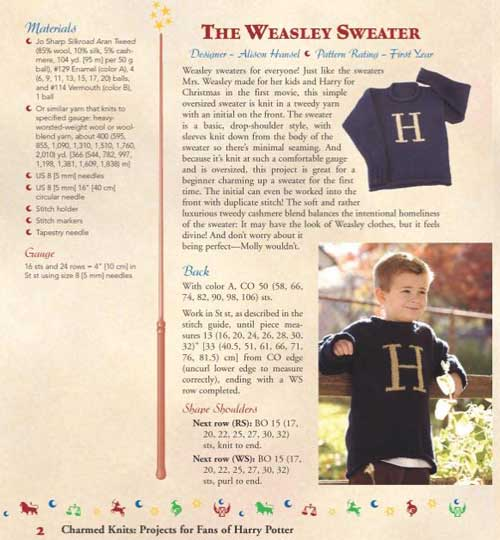 Charmed Knits: Projects for Fans of Harry Potter   For The Love of Harry