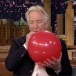 Alan Rickman Inhaling Helium With Jimmy Fallon