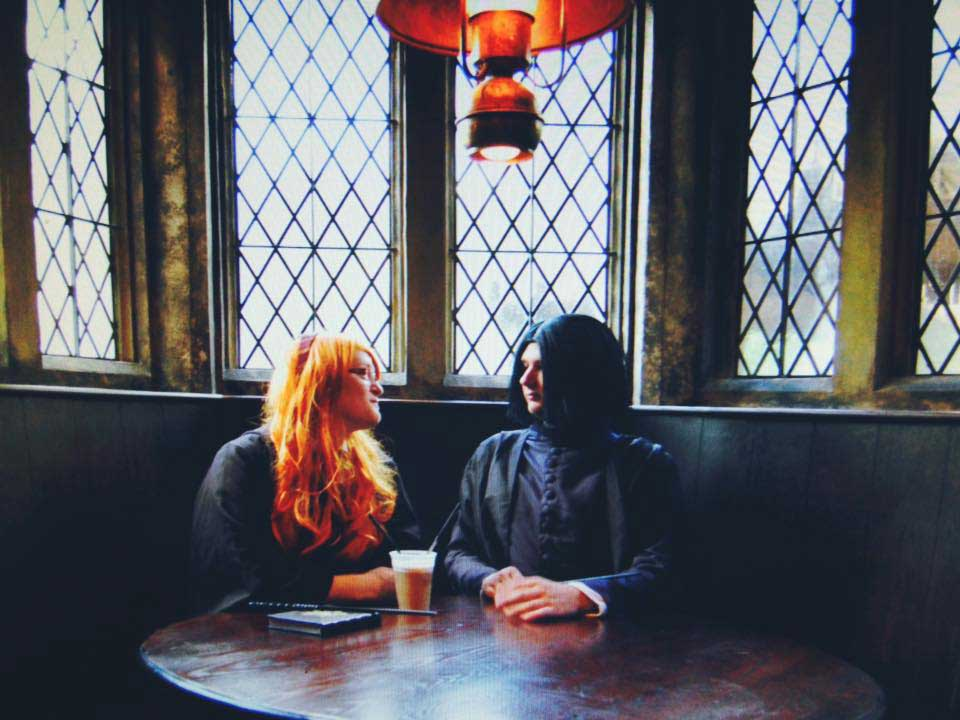 Lily And Snape Drinking Butterbeer at The Three Broomsticks