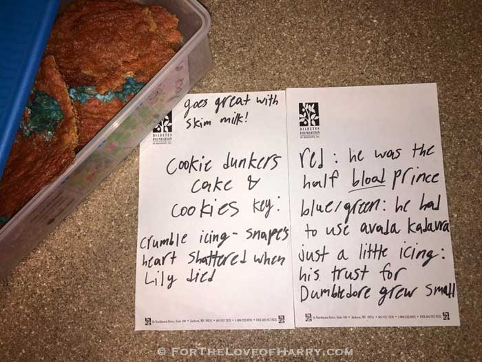 These cookies were made by a 10-year-old girl and show how well she understood Snape