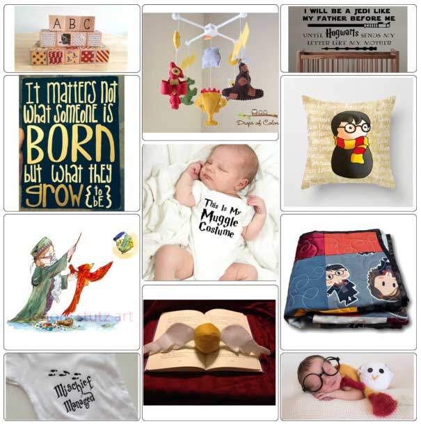 Ideas for decorating a baby nursery with Harry Potter gear