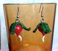 Dirigible plum earrings for a Luna Lovegood costume