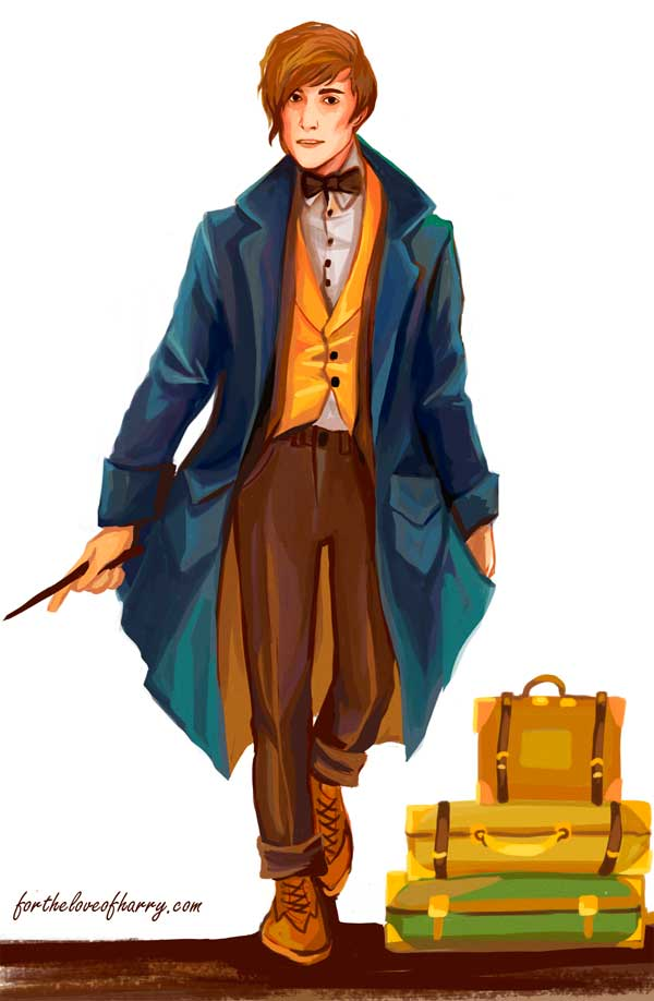 Everything you need for a Newt Scamander costume