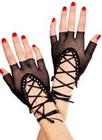 Black fishnet gloves for a Severus Snape Boggart costume