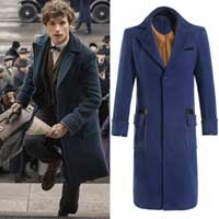 Teal trench coat like the one worn by Newt Scamander