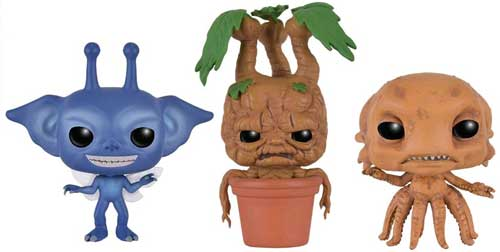 2016 SDCC exclusive Funkos - Cornish Pixie, Mandrake, and Grindylow