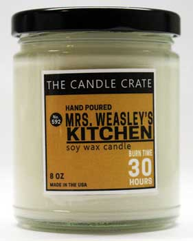 Candle inspired by Mrs. Weasley's kitchen