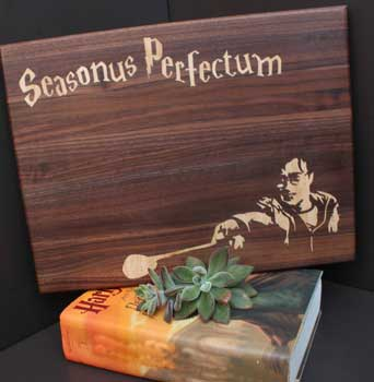 Wooden cutting board inspired by Harry Potter