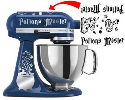 KitchenAid mixer decal inspired by Harry Potter