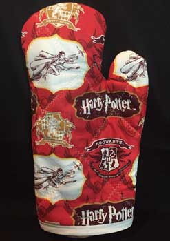 Glove shaped oven mitt inspired by Harry Potter