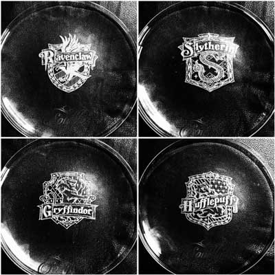 Plates inspired by Harry Potter
