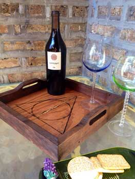 Serving tray inspired by Harry Potter and the Deathly Hallows