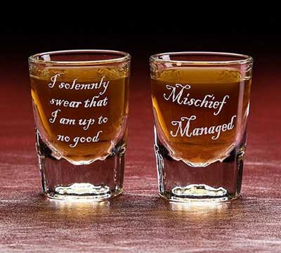 Shot glasses inspired by Harry Potter