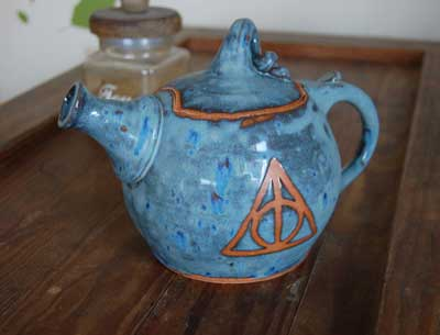 Teapot inspired by Harry Potter and the Deathly Hallows symbol