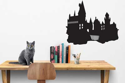 Vinyl wall decal inspired by the Hogwarts castle