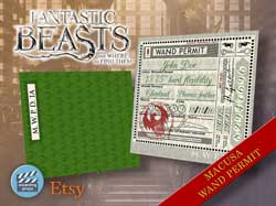 MACUSA Wand Permit For A Fantastic Beasts Costume