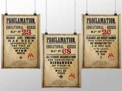 Dolores Umbridge's Educational Decree Proclamations