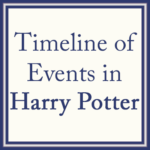 Chronological details of the events that happened in Harry Potter's wizarding world.
