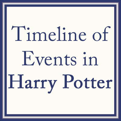 Harry Potter Timeline Of Events