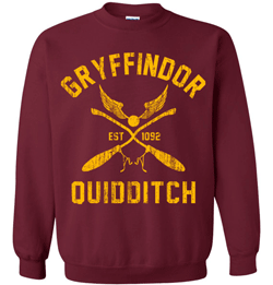 This is an example of the many different Gryffindor sweatshirts available.