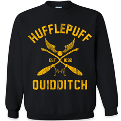 This is an example of the many different Hufflepuff sweatshirts available.